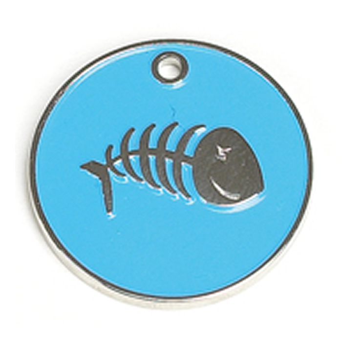 Light Blue Fish Cat Pet Tag