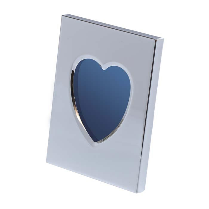 Chrome Plated Heart Window Photo Frame