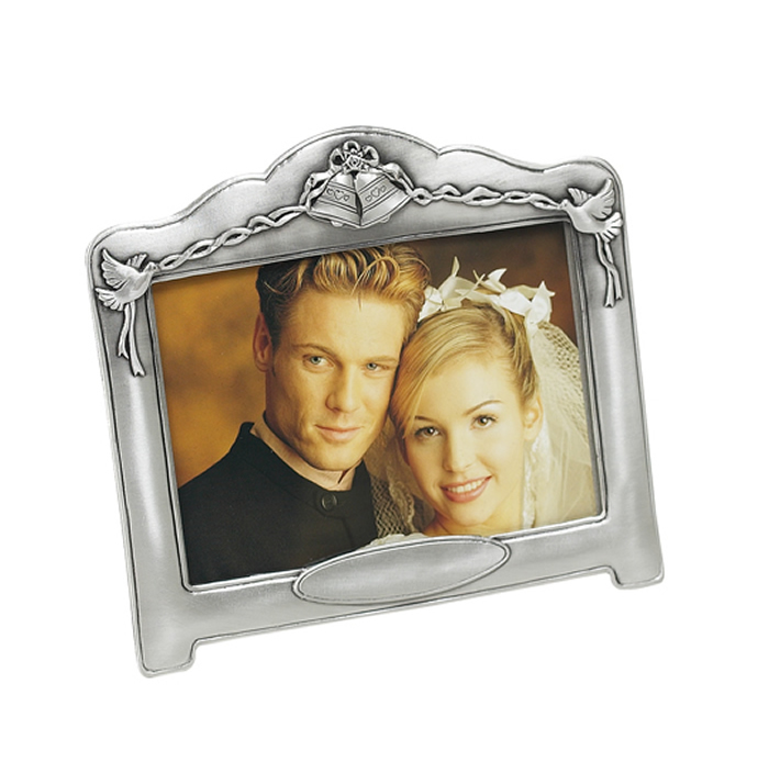 6 X 4 Inch Antique Finish Wedding Bells Photo Frame