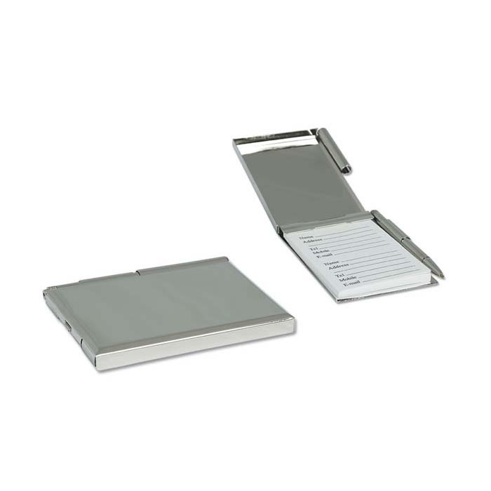 Nickel Plated Pocket Address Book