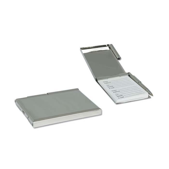 Nickel Plated Pocket Address Book