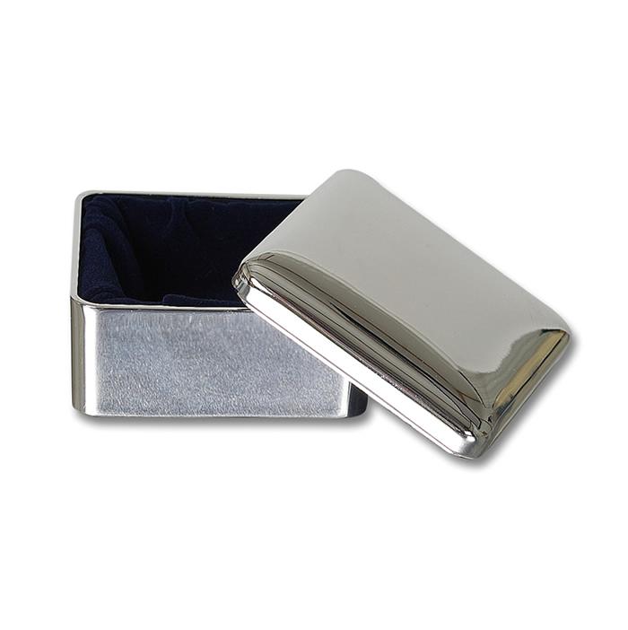 Silver Plated Square Keepsake Box