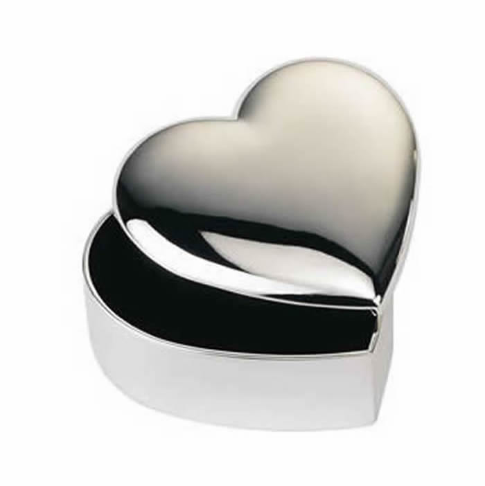 Silver Plated Heart Keepsake Box
