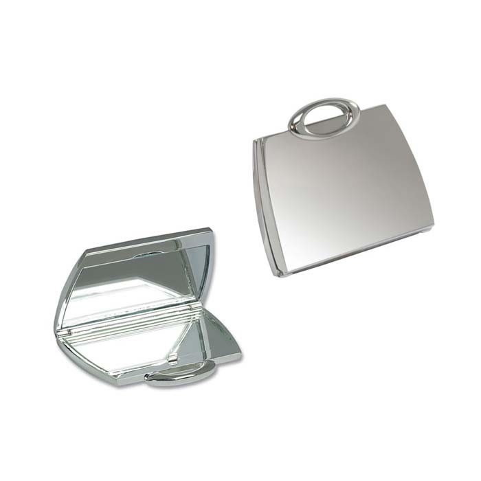 Silver Plated Handbag Mirror