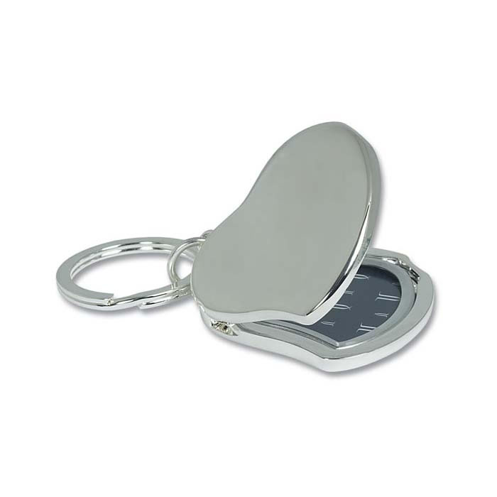 Silver Plated Heart Locket Photo Keyring