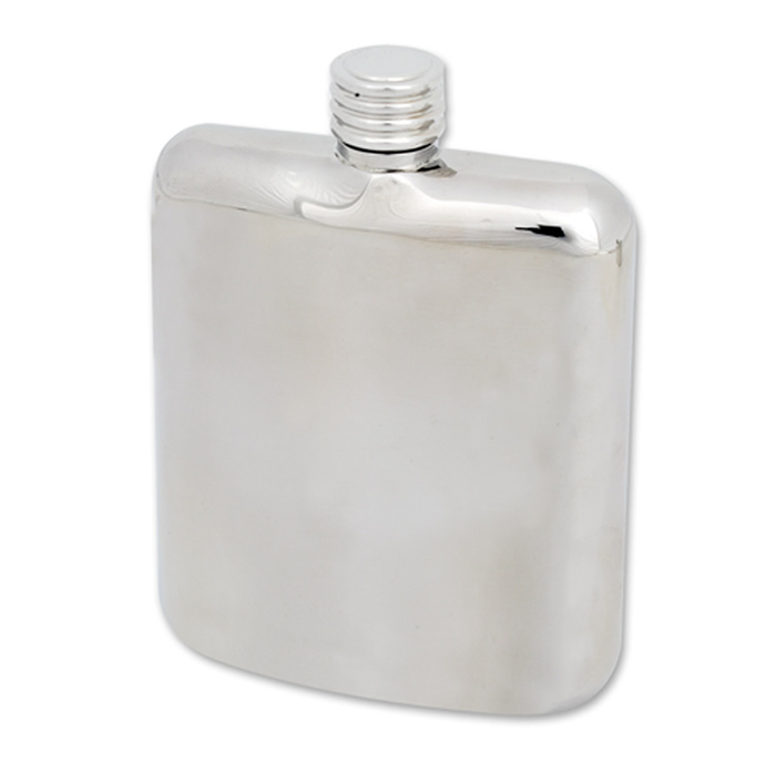 Stainless Steel Polished Plain Flask 17cl