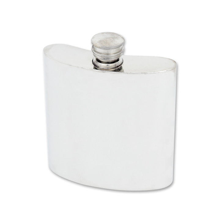 11cl Classic Style Pewter Hip Flask