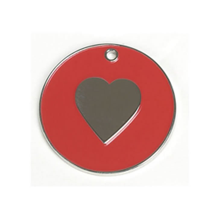 Red Heart Dog Pet Tag