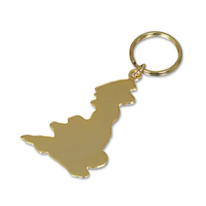 Gold Plated Great Britain Key Ring