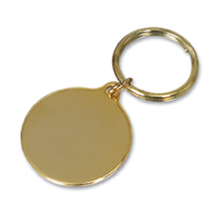 Gold Plated Small Round Key Ring