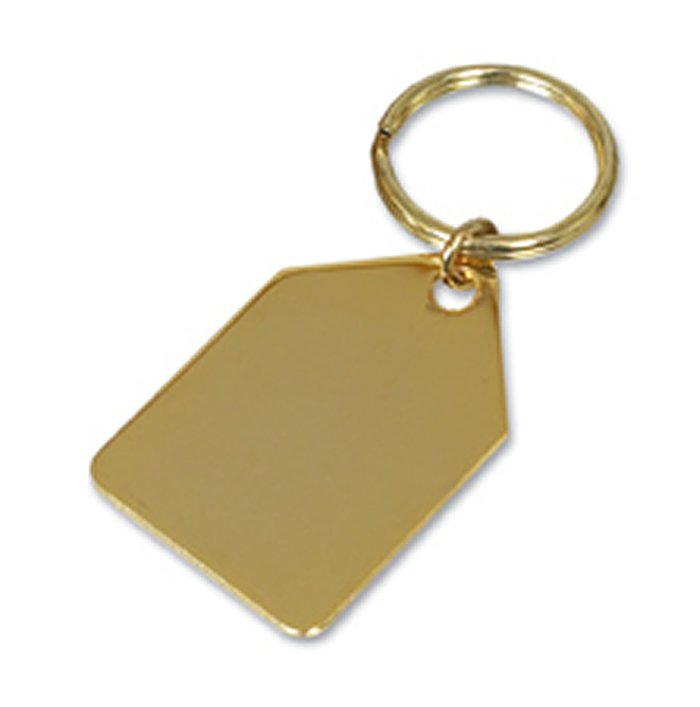 Gold Plated Tapered Style Key Ring