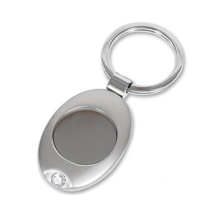 Oval Simple Key Ring