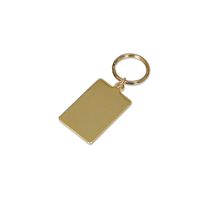 Gold Plated Small Oblong Key Ring