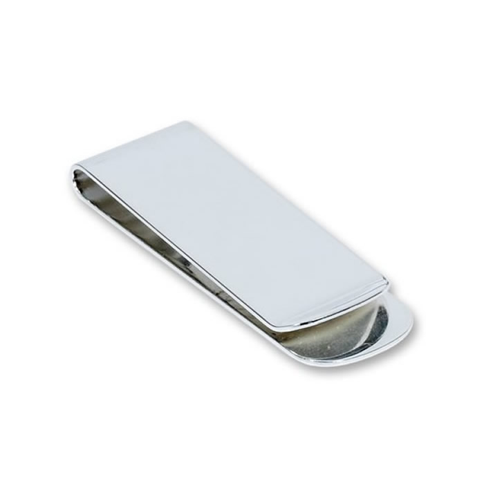 Straight Silver Plated Money Clip