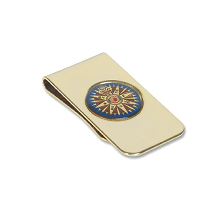 Gold Plated Nautical Motif Money Clip