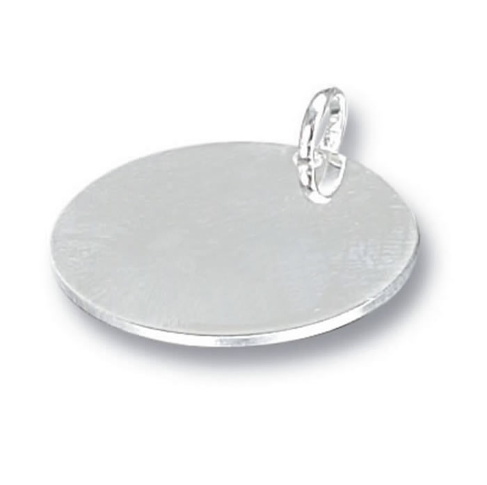 Polished Silver Circular Pet Tag