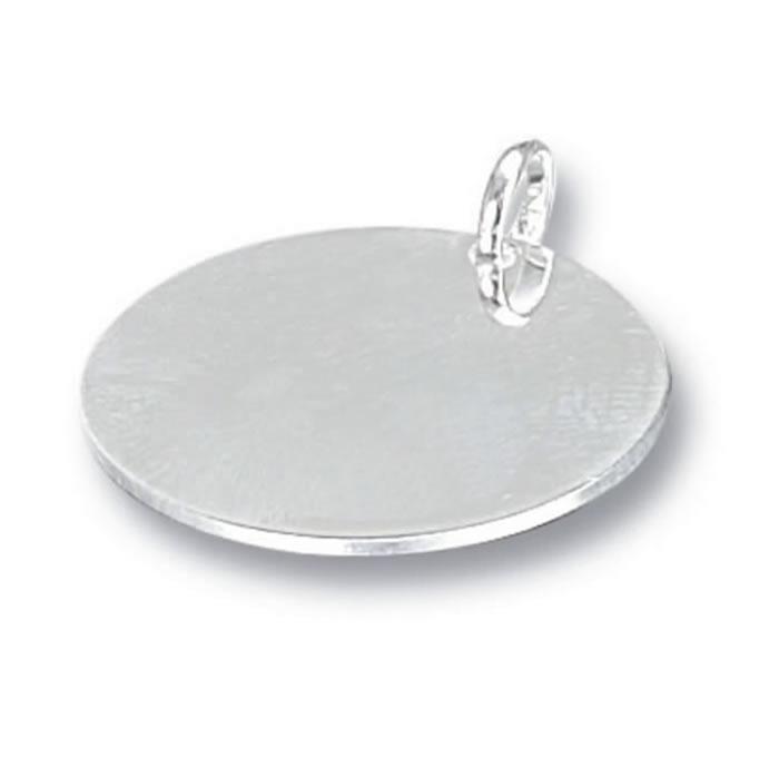 Polished Silver Circular Pet Tag