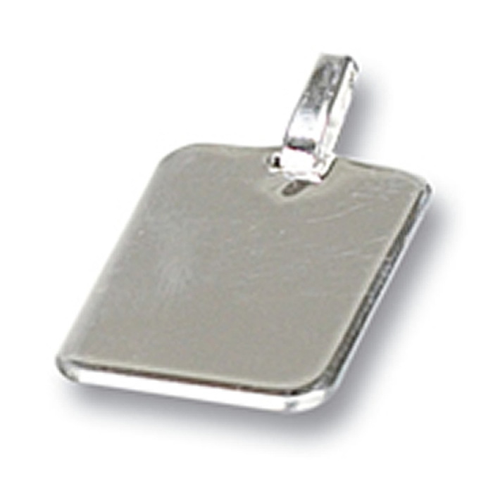 Sterling Silver Plain Rectangle Tag