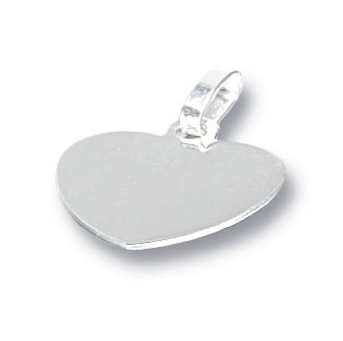 Sterling Silver Plain Heart Tag