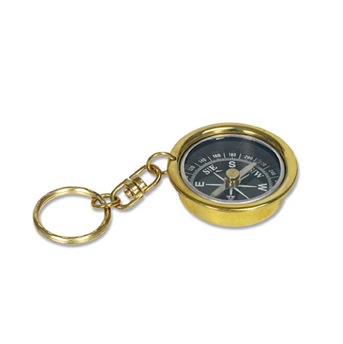 Brass Compass Key Ring