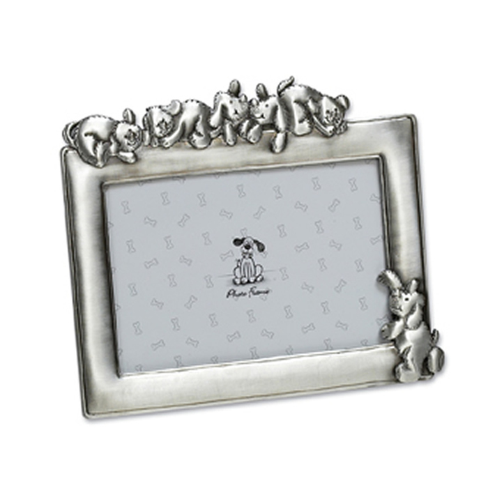 6 X 4 Inch Antique Finish Dogs Photo Frame