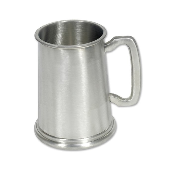 One Pint Satin Finished Pewter Tankard