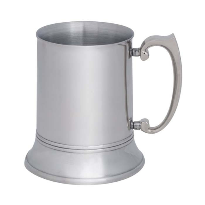 1 Pint Polished Stainless Steel Tankard