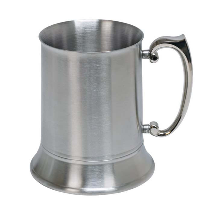 1 Pint Satin Stainless Steel Tankard