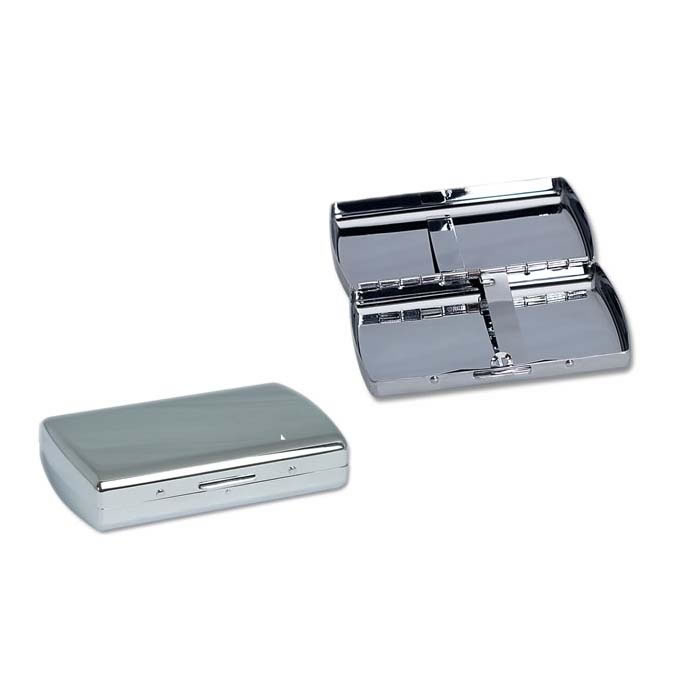 Chrome Mini Double Sided Cigarette Case