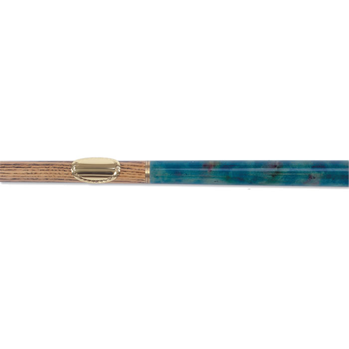 Gold Anodised Snooker Cue Or Walking Stick Engraving Plate