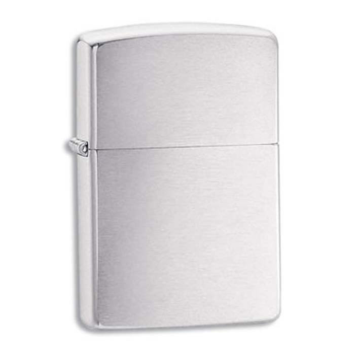 Brushed Chrome Zippo Lighter