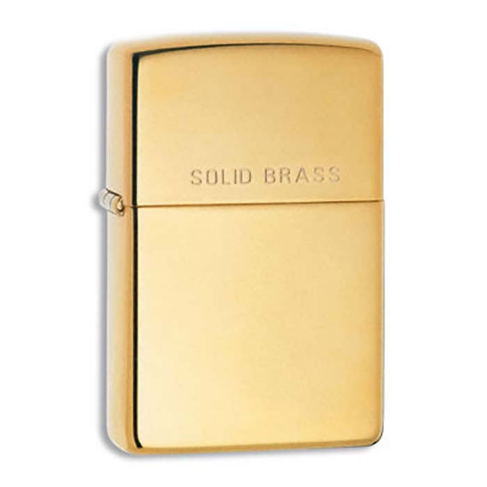 High Polished Brass Zippo Lighter