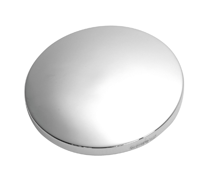 Handbag Mirror in Sterling Silver Plain