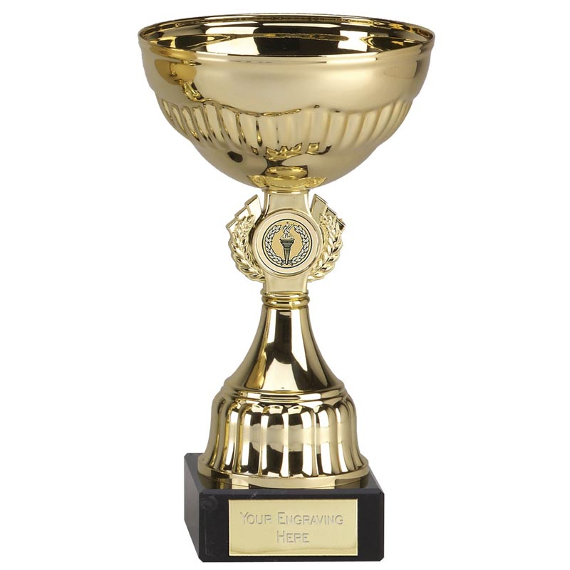 8 Inch Gold Centre Holder stem Geneva Trophy Cup