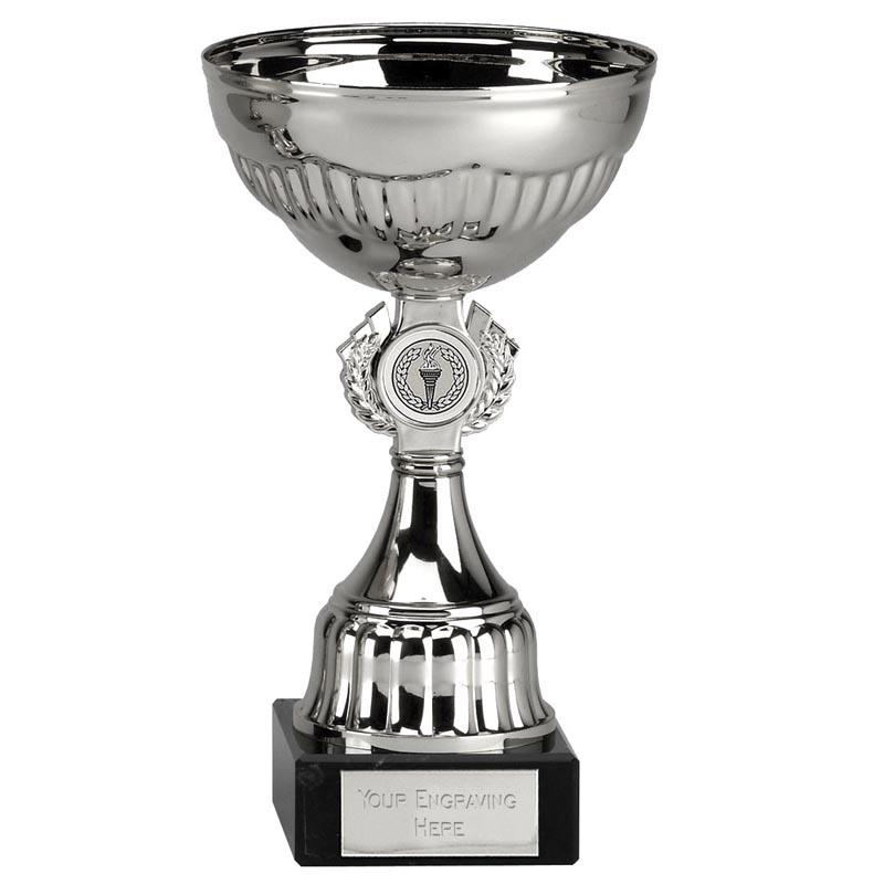 8 Inch Silver Centre Holder Stem Geneva Trophy Cup