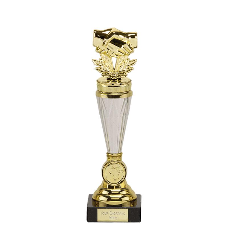 23cm Gold Handshake Figure On Paragon Award