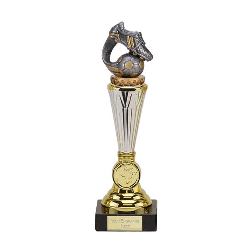 23cm Boot & Ball Wave Figure On Football Paragon Award