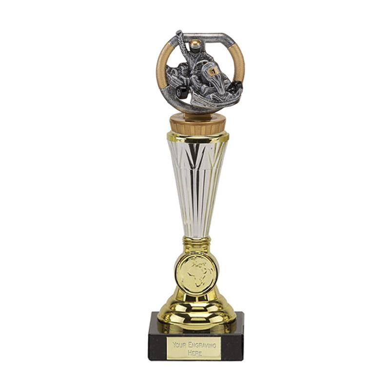 23cm Go-Kart Figure On Motorsports Paragon Award
