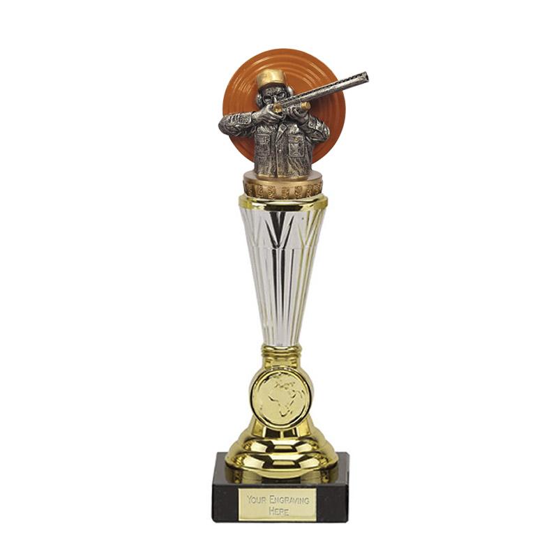 23cm Clay Shooting Figure On Paragon Award