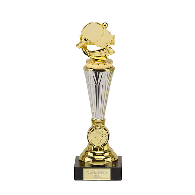 10 Inch Gold Table Tennis Figure On Paragon Award
