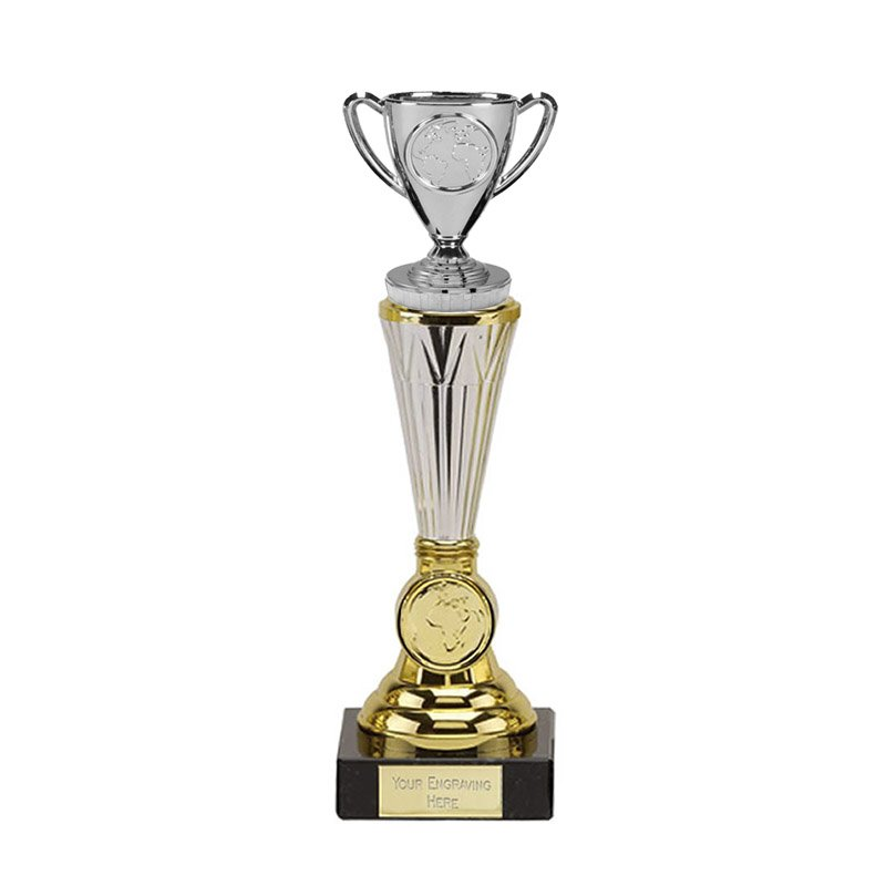 10 Inch Gold Silver Cup Figure On Paragon Award