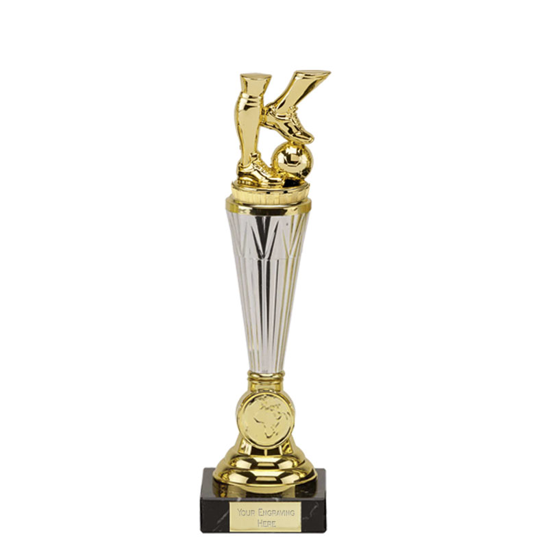10 Inch Gold Football Legs Figure On Paragon Award