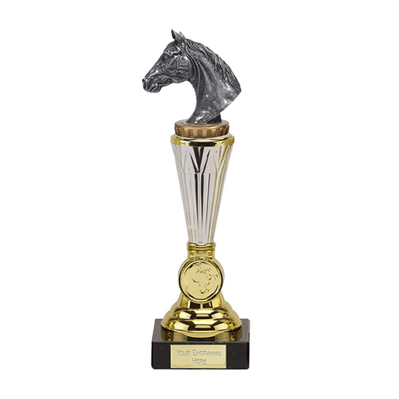 10 Inch Horse Head Figure On Horse Riding Paragon Award