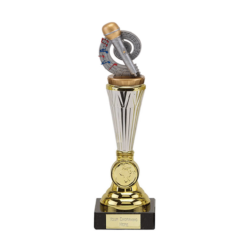 10 Inch Microphone Place Figure On Music Paragon Award