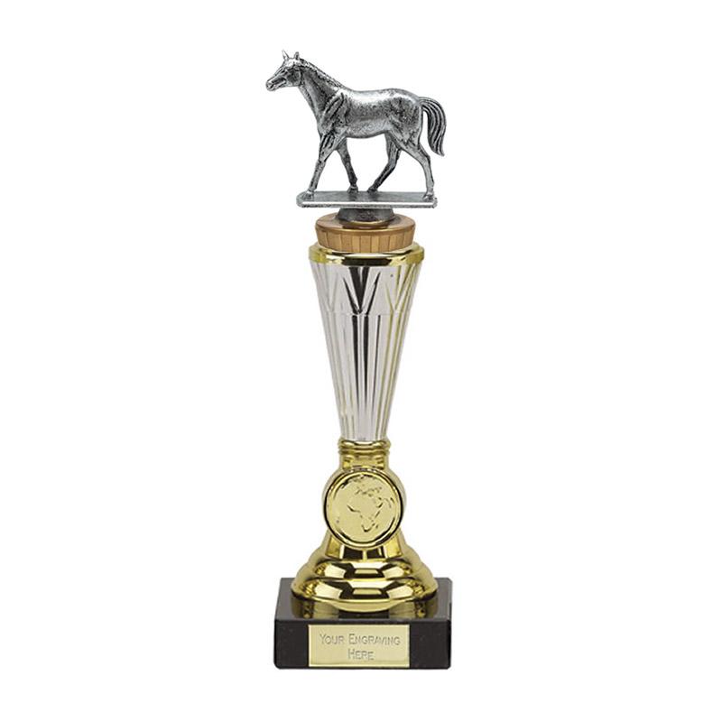 10 Inch Quarter Horse Figure On Horse Riding Paragon Award