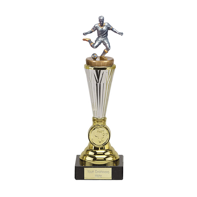 10 Inch Footballer Male Figure On Paragon Award
