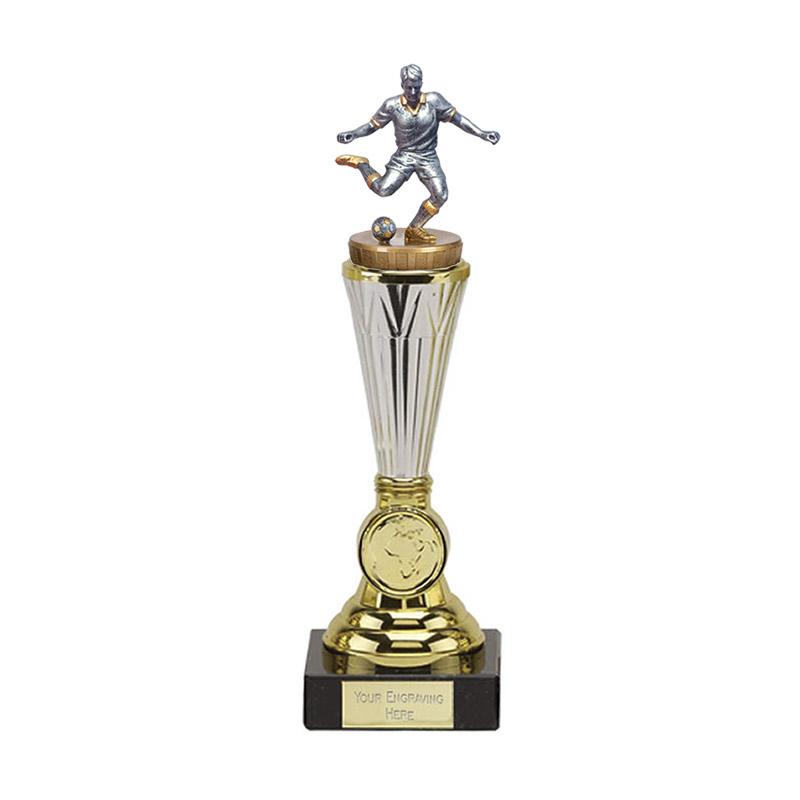 10 Inch Footballer Male Figure On Paragon Award