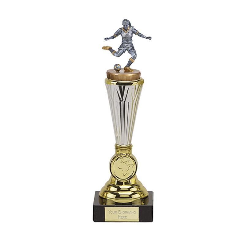 10 Inch Footballer Female Figure On Paragon Award