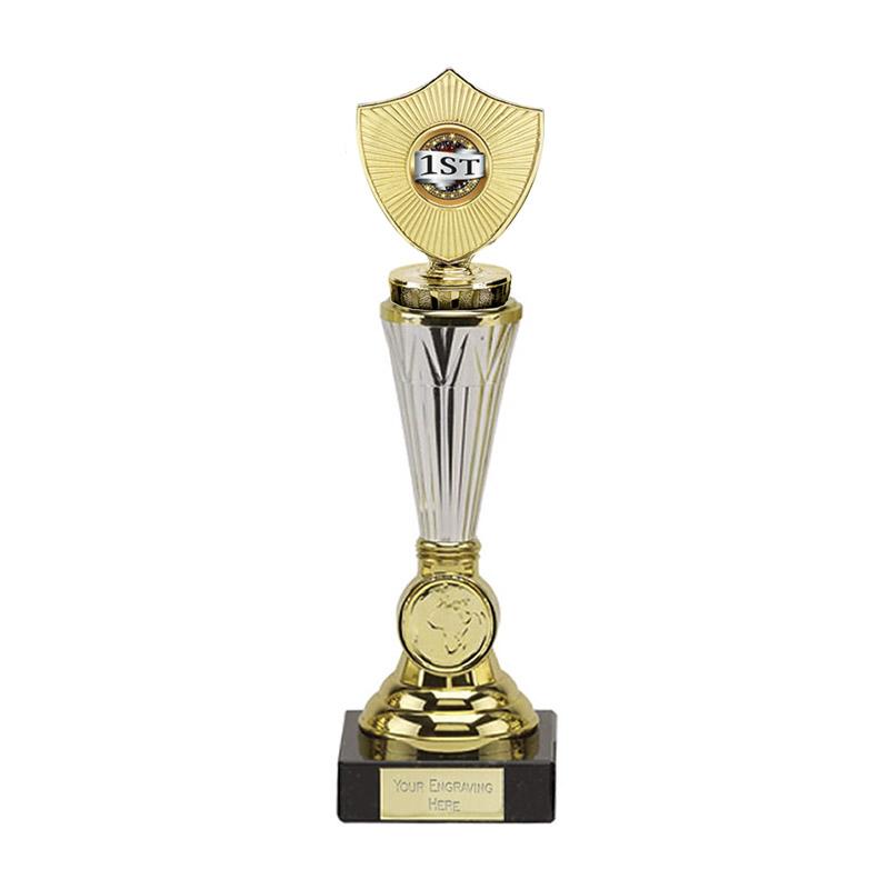 26cm Gold Centre Shield Figure On Paragon Award