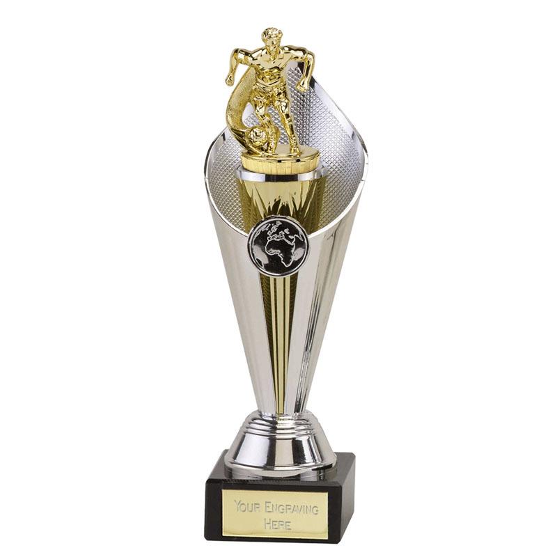 22cm Gold Football Player Figure on Football Beacon Award